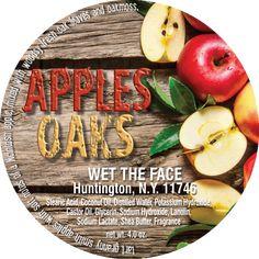 Apples & Oaks Shaving Soap 4.0 oz Mcintosh Apples, Sodium Hydroxide, Distilled Water, Shaving Soap, Granny Smith, Shea Butter, Coconut Oil, Artisan, Fragrance