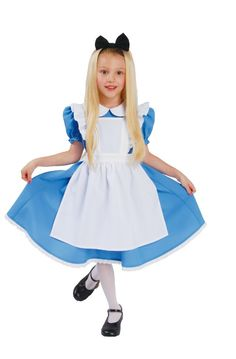 "Rakuten: It is 120 AQUA dress ""Alice in Wonderland"" child costume size / aqua dress / kids costume play / disney resort / Disneyland / Disne..."