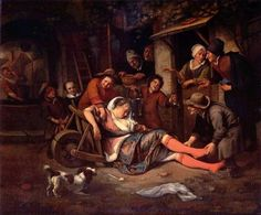 Jan Steen Art | ... Mocker, 1668, Jan Steen--no doubt a scene Steen had seen many times