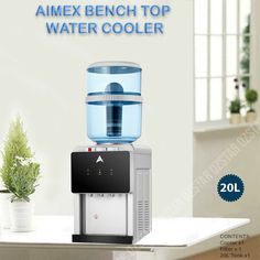 Water Cooler Dispenser Benchtop Water Chiller Hot Cold Taps 8 Stage Water Filter #AimexWater #BenchtopWaterDispenser Water Dispenser, Water Filter, Taps, Keurig, Filters, Chill, Australia, Hot, Water Purification