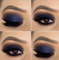 13 Great Blue Eyeshadow Looks That Make You Charming! - - 13 Great Blue Eyeshadow Looks That Make You Charming! – Blue eyeshadow ideas, blue makeup looks, blue eyeshadow looks, makeup ideas prom, Blue Eyeshadow Makeup, Prom Eye Makeup, Blue Eyeshadow Looks, Blue Makeup Looks, Dramatic Eye Makeup, Matte Makeup, Eye Makeup Art, Glitter Eye Makeup, Makeup For Green Eyes