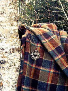 Tartan scarf and Scottish Thistle Tartan Plaid, Plaid Scarf, Tartan Decor, Scottish Plaid, Scottish Tartans, Scottish Thistle, Scottish Decor, Harris Tweed, Textiles