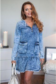 Sukienka Jeans | Odzież Damska | Moda Odzież Damska