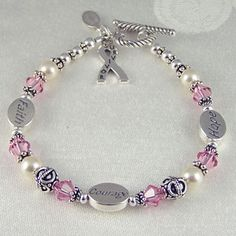 Cancer Survivor Bracelet - can be customized for any cancer $75