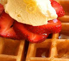 Making waffles is not as intimidating as it looks. Try this simple recipe with berries and whipped cream or ice cream.