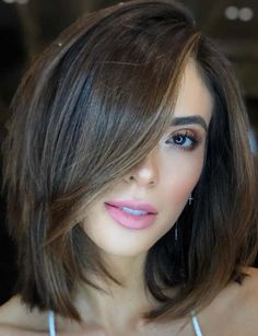 Long bob hairstyles 120260252537068692 - Long Bob with Side Part Bangs – The Best Long Bob Haircuts and Lob Hairstyles: Cute and Sexy Long Bob Styles Source by jiraschepis Layered Bob Hairstyles, Haircuts For Long Hair, Layered Hair, Hairstyles Haircuts, Popular Hairstyles, Hairstyle Ideas, Bob Hairstyles For Thick Hair, 2018 Haircuts, Redhead Hairstyles