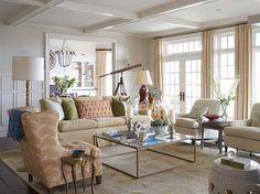 Coastal Room Ideas with wooden floor