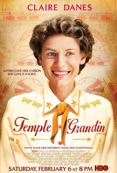 """Temple Grandin :: Claire Danes in a biopic of Temple Grandin, an autistic woman who has become one of the top scientists in the humane livestock handling industry :: (2010) TV Movie  -  107 min  -  Biography   Drama :: Director: Mick Jackson :: Writers: Temple Grandin, Margaret Scariano (based on the book: """"Emergence"""") Claire Danes, Julia Ormond, David Strathairn"""