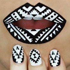 75+ Lips Matching Nail Arts 2018