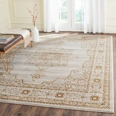 Shop the Rug - Color: Cream, Gold; Size: x by Safavieh. Made from Polypropylene in Turkey. This Power Loomed Cream, Gold rug has a pile_height, perfect for a soft yet durable addition to your home. Best Carpet, Diy Carpet, Rugs On Carpet, Carpet Ideas, Hall Carpet, Stair Carpet, Red Carpets, Magic Carpet, Modern Carpet