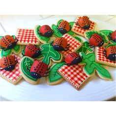 Picnic themed cookies