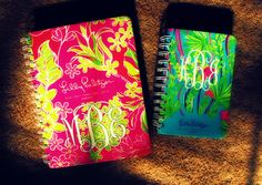 Monogrammed Lilly Pulitzer planners<3