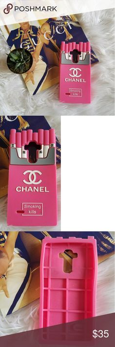 Chanel Smoking Kills pink rubber G4Stylus case Up for consideration is a pre-owned Chanel logo rubber phone case. This case is for a G4 stylus phone and is in great used condition. Purchase second-hand so unsure of authenticity, price reflects this!  /CB unknown Accessories Phone Cases