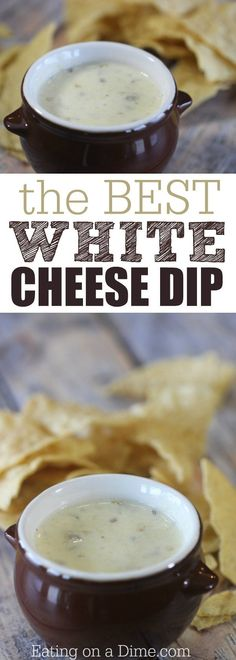 This is the Best Mexican White Cheese Dip recipe. An Authentic queso dip that tastes just like the Mexican Restaurant white sauce. Your entire family is going to love this queso blanco. Cheese Dip Recipes, Appetizer Recipes, Dip Appetizers, Mexican Dishes, Mexican Food Recipes, White Queso Dip Recipe, Chuys Queso Recipe, Mexican White Cheese Dip, Mexican White Sauce