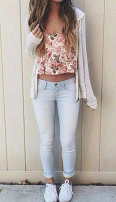 summer cute teen outfit.