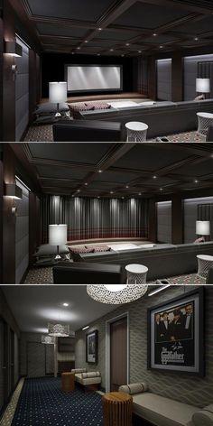 Unique Modern Home theater Design