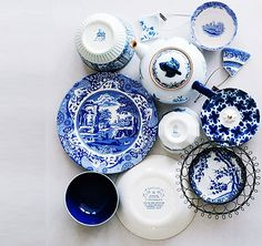 Blue China always looks so fresh and classic.