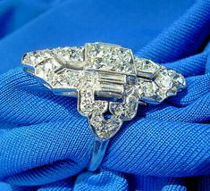 Picture 2 of 12 Deco Engagement Ring, Platinum Engagement Rings, Antique Engagement Rings, Vintage Art Deco Rings, Art Deco Diamond Rings, European Cut Diamonds, Art Deco Jewelry, Diamond Cuts, 1920s