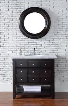 """36"""" Vancouver Espresso Single Sink Bathroom Vanity"""