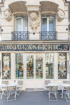 """Boulangerie Bo"" One of Paris's beautiful, ornately decorated boulangeries - Travel interests Paris Chic, Design Furniture, Plywood Furniture, Cafeteria Paris, Paris Bakery, Patisserie Paris, French Patisserie, Belle Villa, Shop Fronts"