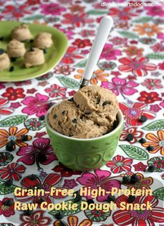 Grain-Free, High Protein Raw Cookie Dough Snack (#vegan, refined #sugarfree #recipe)