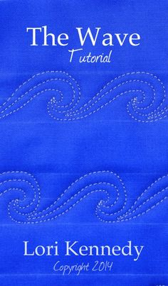 Awesome wave pattern! #quilting