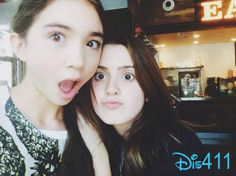 """Laura Marano from """"Austin & Ally"""" and """"Girl Meets World"""" darling Rowan Blanchard hung out together today (September Seems the two Disney Vanessa Marano, Laura Marano, Rowan Blachard, Riley Matthews, Disney Channel Shows, Austin And Ally, Zendaya Coleman, Girl Meets World, Disney Stars"""