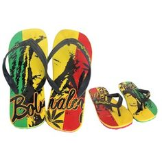 *Bob Marley* Crazy Flip Flops. More fantastic pictures and videos of *Bob Marley* on: https://de.pinterest.com/ReggaeHeart/