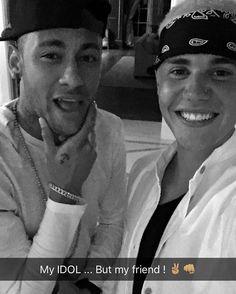 justin bieber, neymar, and bieber image Messi Neymar, Neymar Football, Justin Bieber Posters, Love Justin Bieber, Real Madrid, Neymar Jr Wallpapers, Bae, Soccer Players, Soccer Guys
