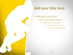 Golf Powerpoint Template Purple  Sport Powerpoint Templates