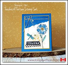 Stampin Up Touches of Texture simple card by Sandi @ www.stampinwithsandi.com