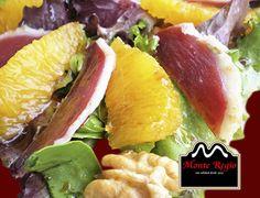 Ensalada de naranja, nueces y jamón ibérico #MonteRegio para celebrar la llegada del buen tiempo ¡Así, sí!