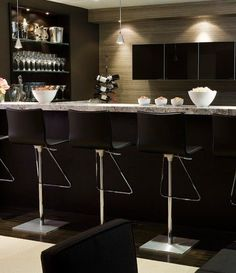 Like the overall clean, contemporary feel of this bar.