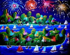 4th of july canvas art