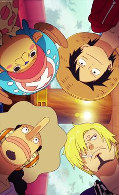 One Piece - Luffy, Chopper, Sanji and Usopp