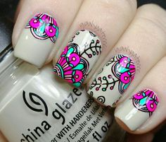 Beige stamping decal