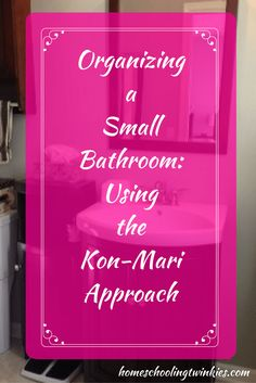 How I organized my small bathroom using the Kon-Mari approach. See how I found what sparks and doesn't sparks joy in my small bathroom. I couldn't wait to use Marie Kondo's approach of purge and store.