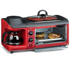 cooks 3-in-1 Breakfast Center Countertop Oven / This would be great for a camper. This would be handy, we don't drink coffee but Hot coco would be so yummy in this!!! -- they get bigger and bigger!!!  want