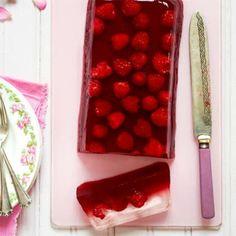 Rasberry & elderflower http://www.goodhousekeeping.co.uk/food/recipes/raspberry-and-elderflower-jelly