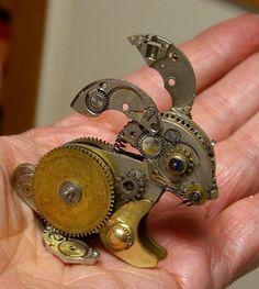 Rabbit steampunk fashion art. #steampunk #steampunkart http://www.pinterest.com/TheHitman14/art-steampunk-%2B/