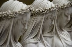 Veiled marble sculptures