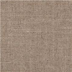 Robert Allen Linen Duck Natural has the look of a linen, without all the wrinkle!  It is also much thicker than linen, which is great for window treatments.