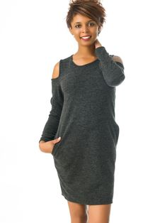 Vestidos Jersey Gris Oscuro MS1718