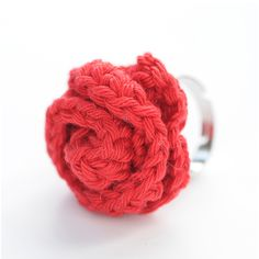 Crochet rose ring workshop. Made from a disc base, this is a lovely way of making a flower. It hasn't quite reached Ravelry as a free pattern but it will one day as I no longer do this workshop.