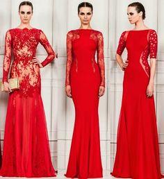 Os vestidos vermelhos de Zuhair Murad
