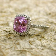 I didn't know there was such a thing as a pink engagement ring--LOVE it!