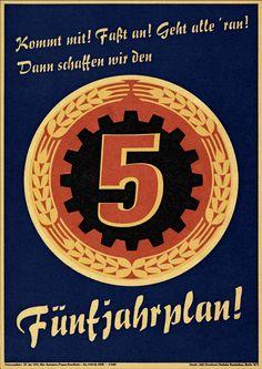 Plakat Fünfjahrplan. DDR, 1950er