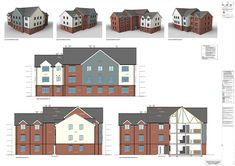 We have issued the preliminary working drawings for the Apartment block on the Horsham site to the client Abbey Developments for their comments.  We hope that they find the use of colour and symbols to relate to specific materials and regulations as helpful as we have.