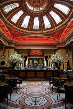 The Dome Bar, Edinburgh, Scotland. This was once The National Commercial Bank of Scotland Ltd. In 1993 The Royal Bank of Scotland decided that the building was no longer viable and put it up for sale. A local company called Caledonian Heritable Ltd bought the building and converted the bank into what you see today.