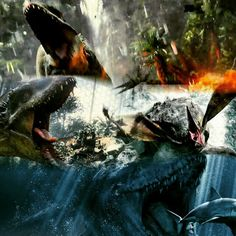 Jurassic World- Indominus Rex and Mesosaur